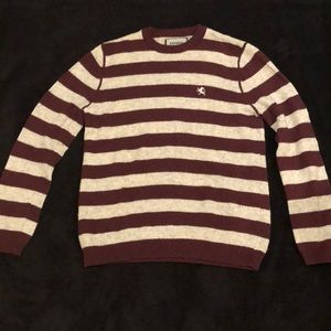 Maroon and Gray Express Sweater